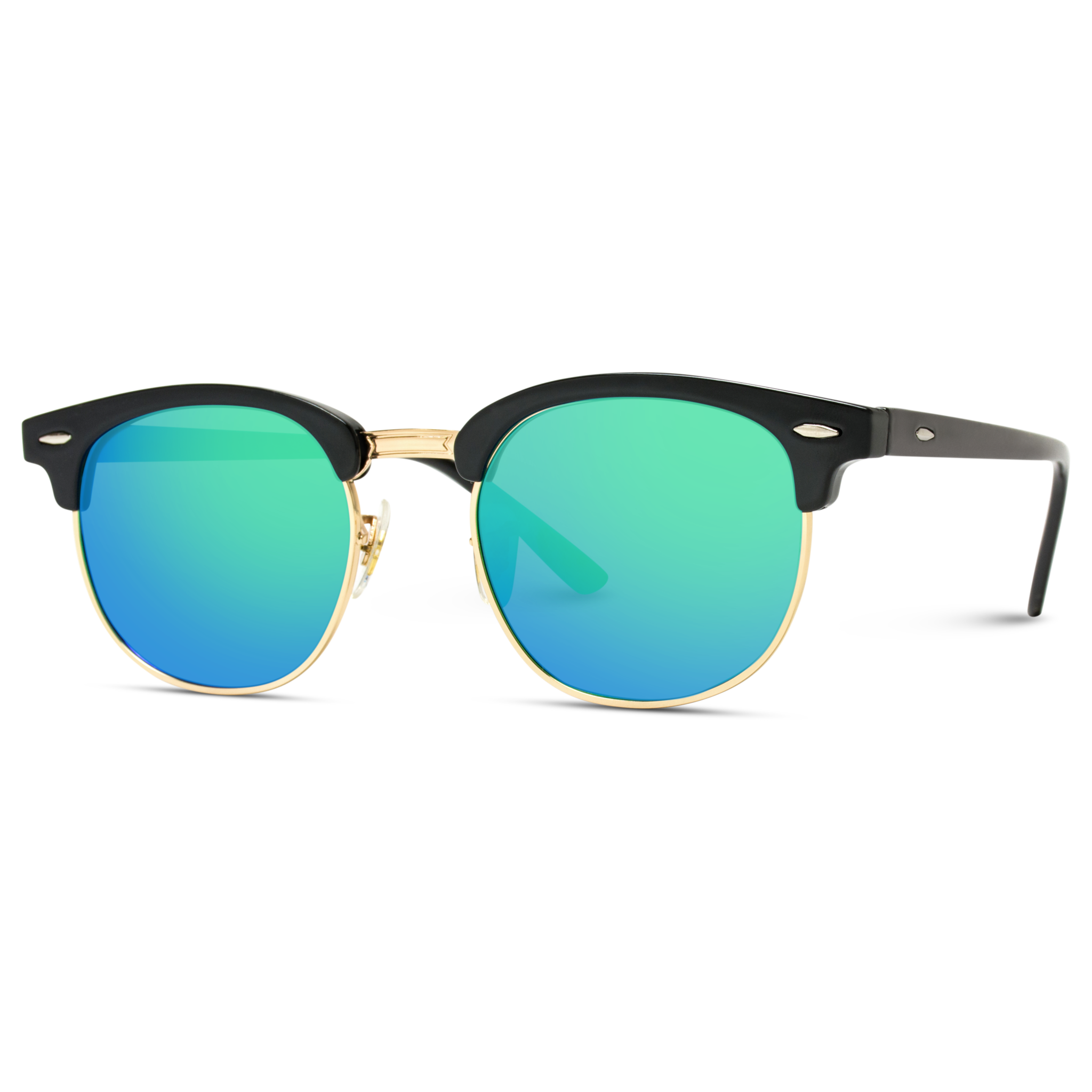 Theo Half Frame Polarized Lens Horn Rimmed Sunglasses Blue Background Images Black Background Images Photoshop Digital Background