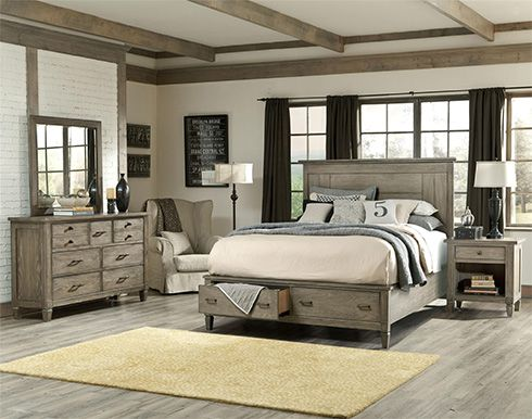 Driftwood finish bedroom set home pinterest bedroom sets furniture and grey for Grey wood bedroom furniture set