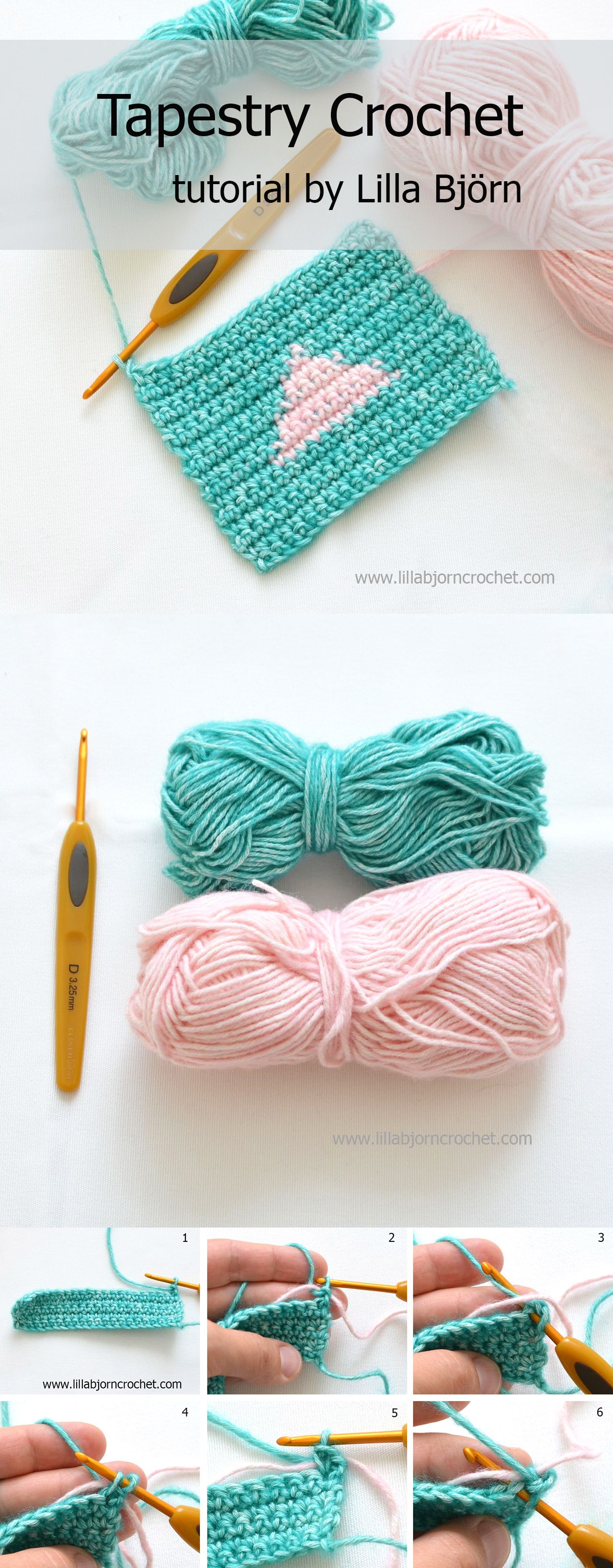 How to do Tapestry Crochet: step-by-step photo tutorial
