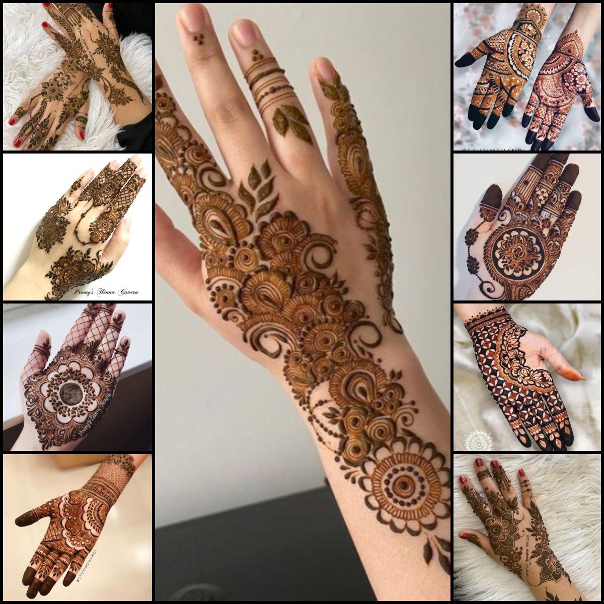 mehndi designs 2021 new style simple full hand