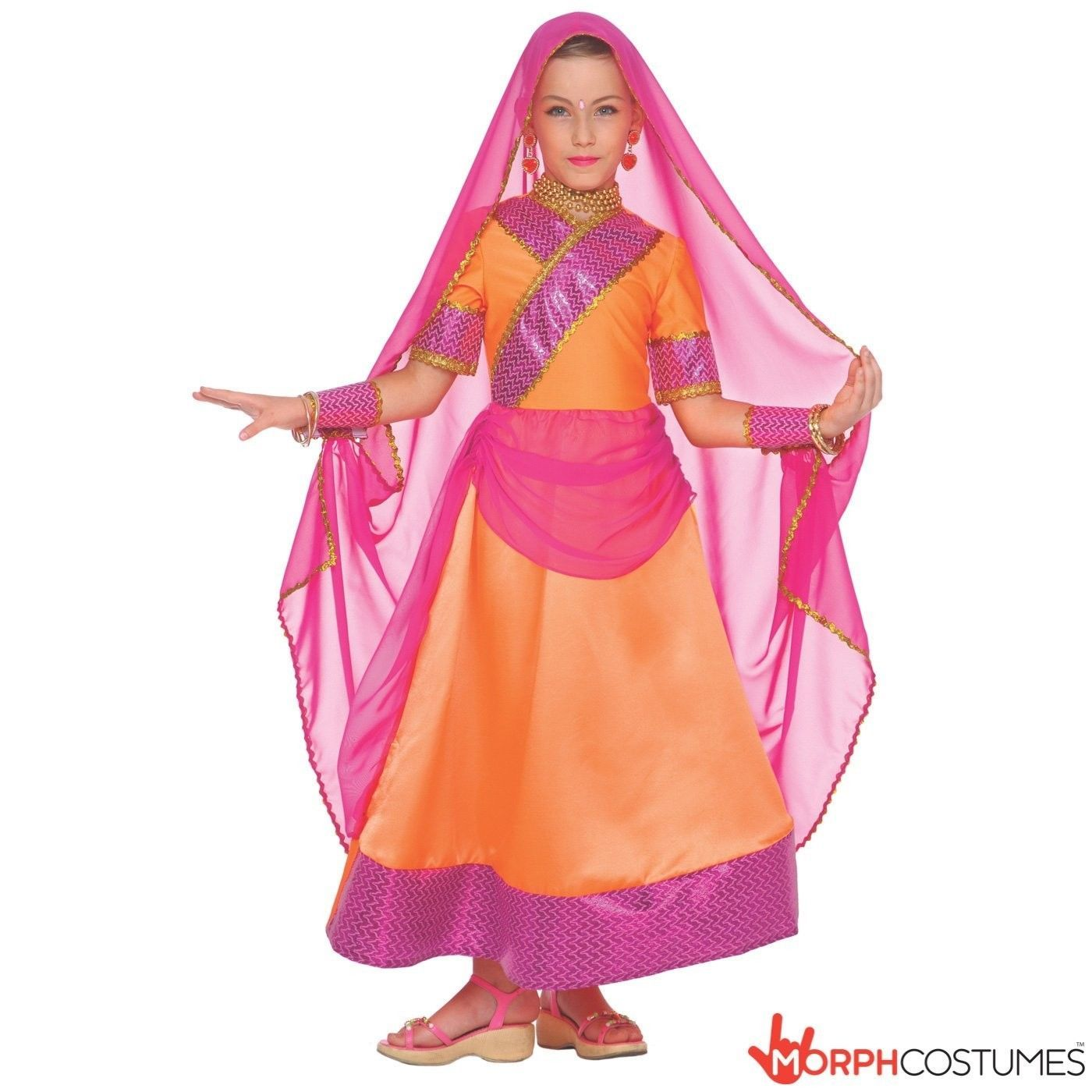 Outfits  Girls Indian Bollywood Hindi Costume Costume Sari