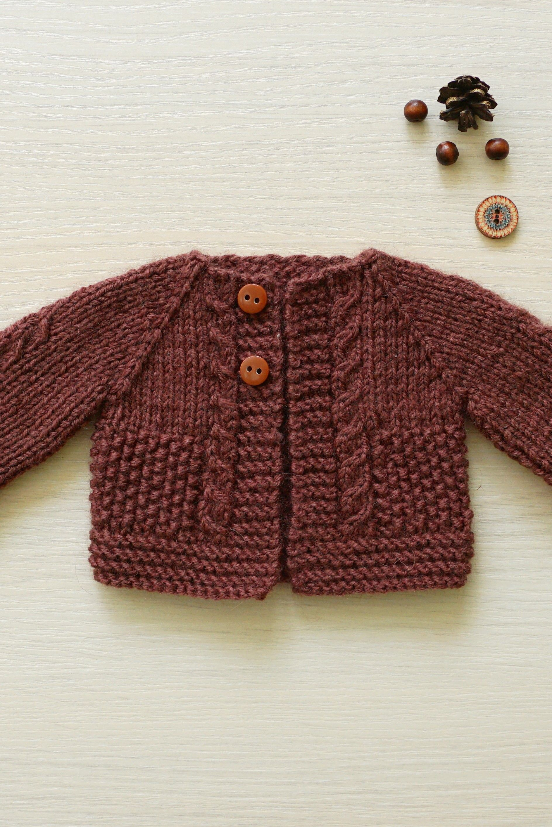 Cinnamon knitted doll cardigan, fit 11 16 inch 28 40 cm doll