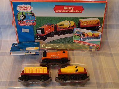 Thomas the train - Rusty w/ Construction Cars 2003 Limited! New in Box - Rare