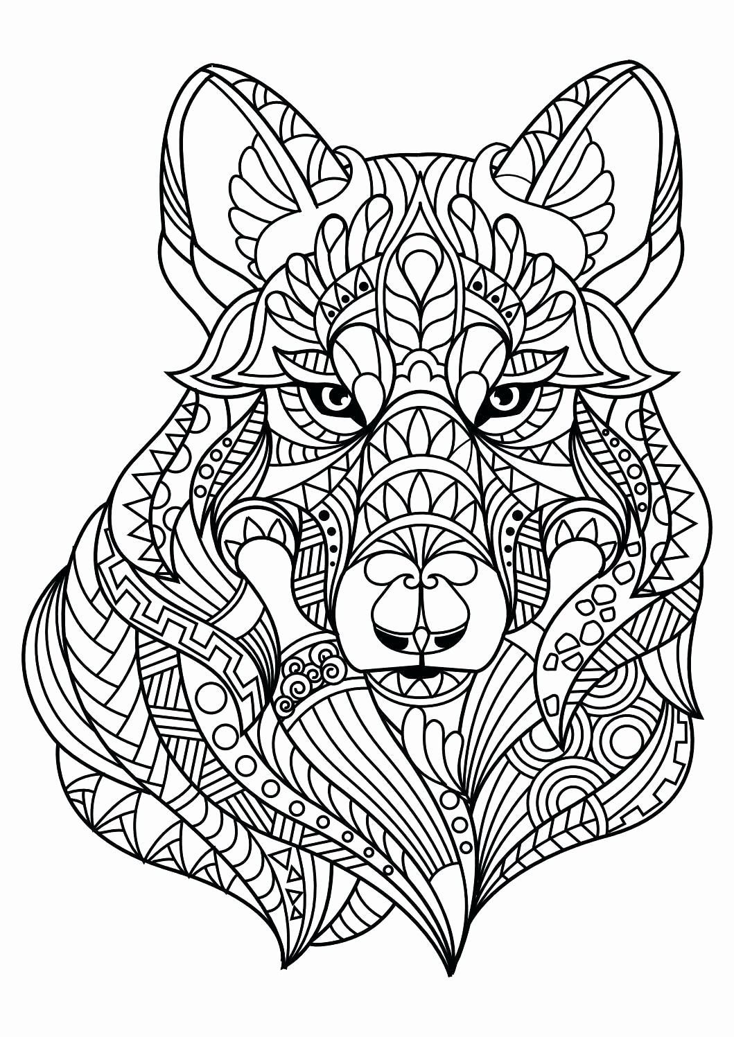 Coloring Pages For Adults Difficult Animals Animal Coloring Books Horse Coloring Pages Dog Coloring Page