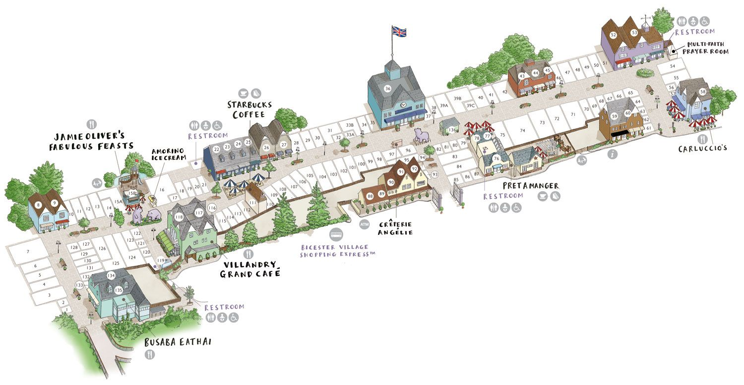 Bicester Village Map Bicester Village Map • Bicester Village | The Priory Clothes Bicester Village Map