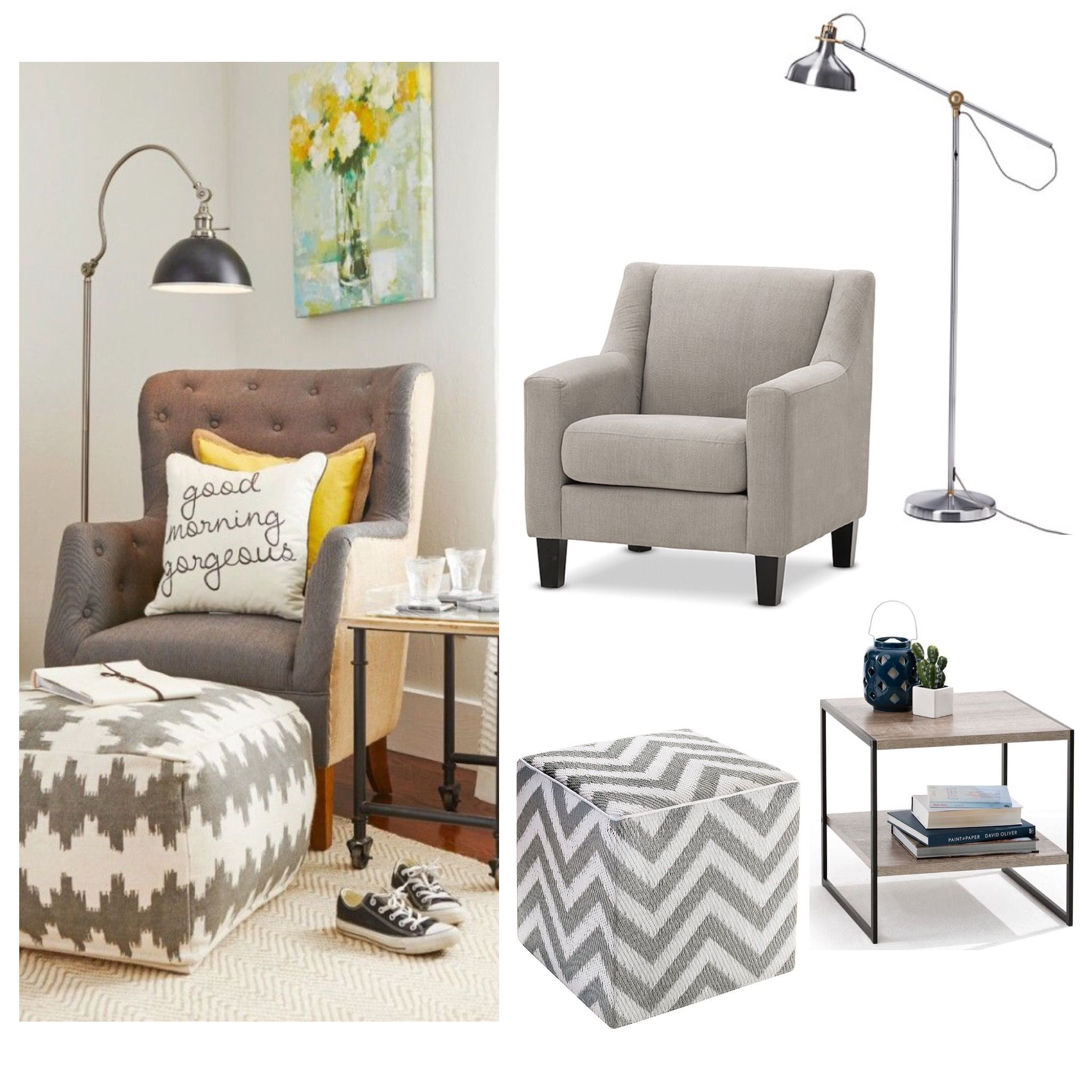 The Best Part Of Winter Is Curling Up In A Great Reading Chair With A Good  Book. Create This Reading Corner For Under $500. Carrie Fabric Accent Chair  From ...