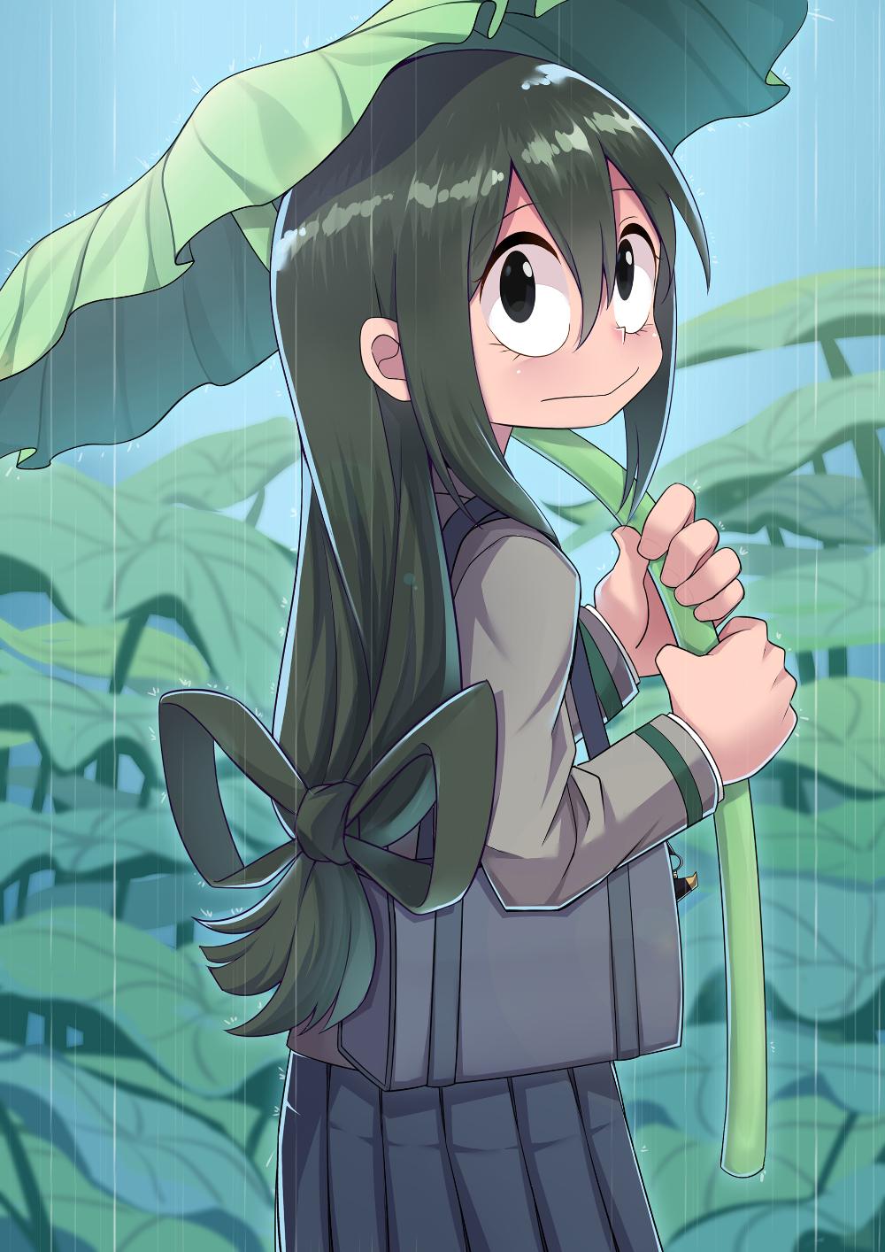 Tsuyu Asui My Hero Academia Rainy Season 梅雨 Pixiv カワイイアニメ 可愛いイラスト かわいいアニメの女の子