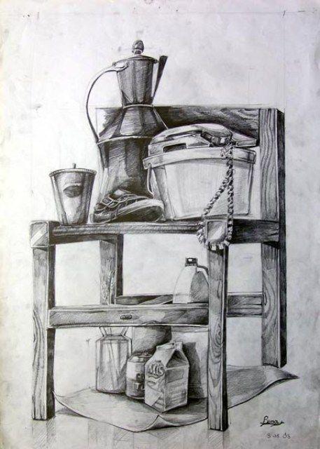 Karakalem Obje çalışmaları Kara Kalem Pencil Drawings Pastel