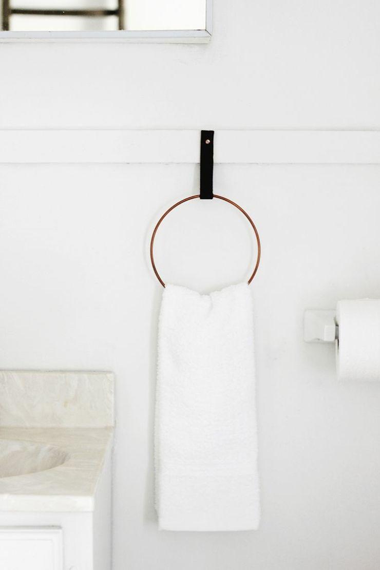 porte-serviette DIY pour la salle de bain