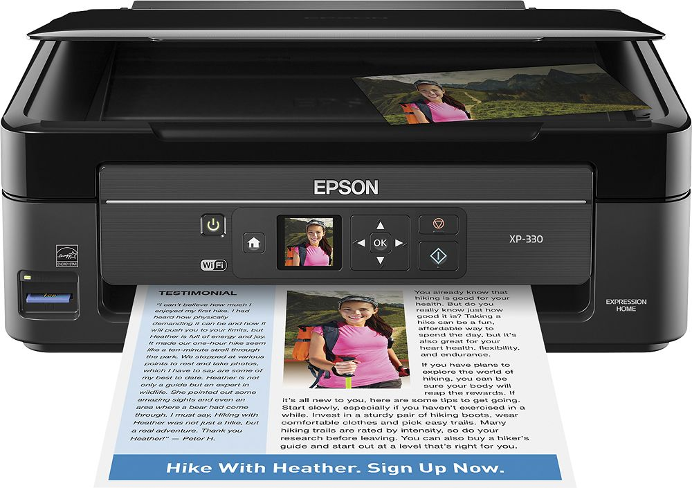Epson - Expression Home XP-330 Small-in-One Wireless All-In-One Printer