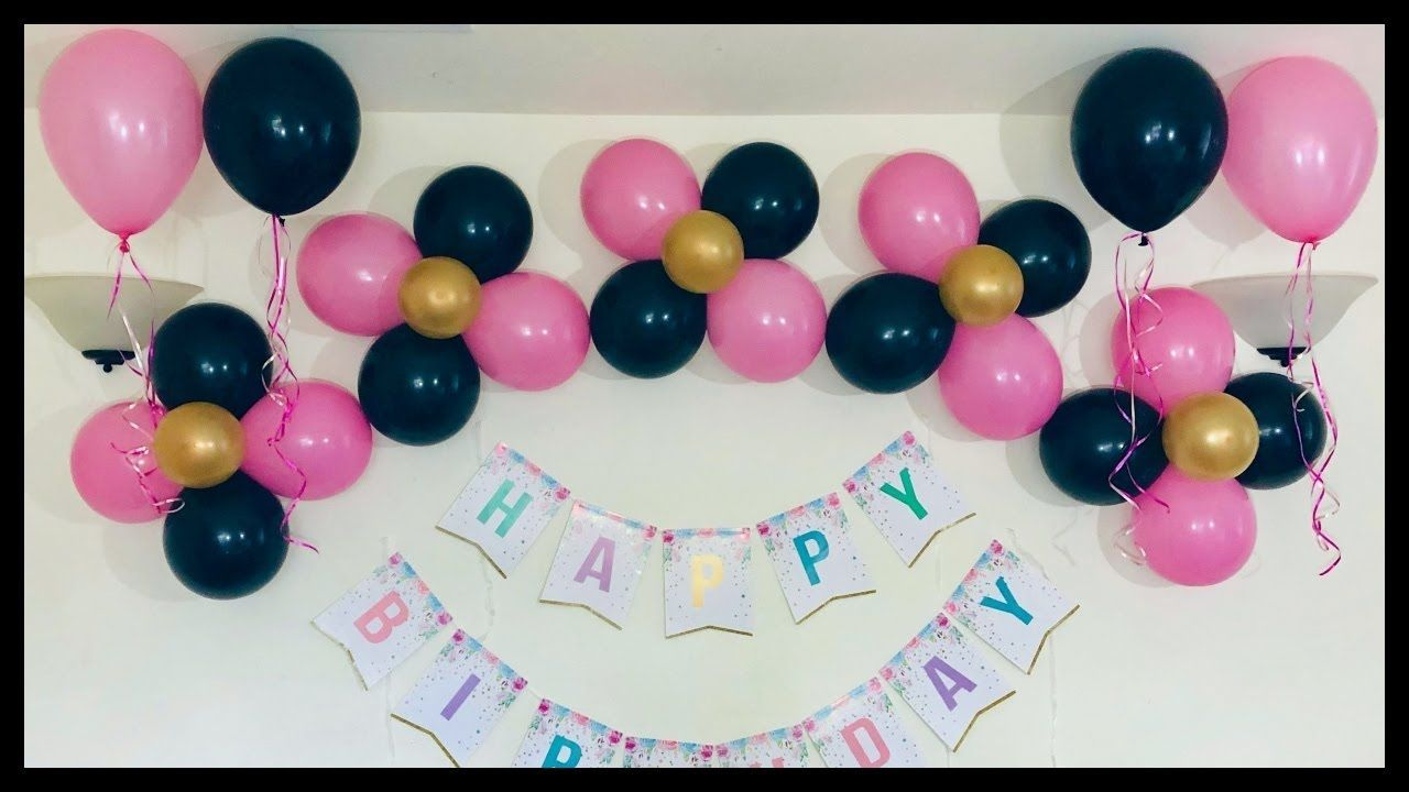 Very Easy Birthday Party Decoration At Home Easy Party Decoration Id Easy Birthday Party Decorations Simple Birthday Decorations Birthday Balloon Decorations