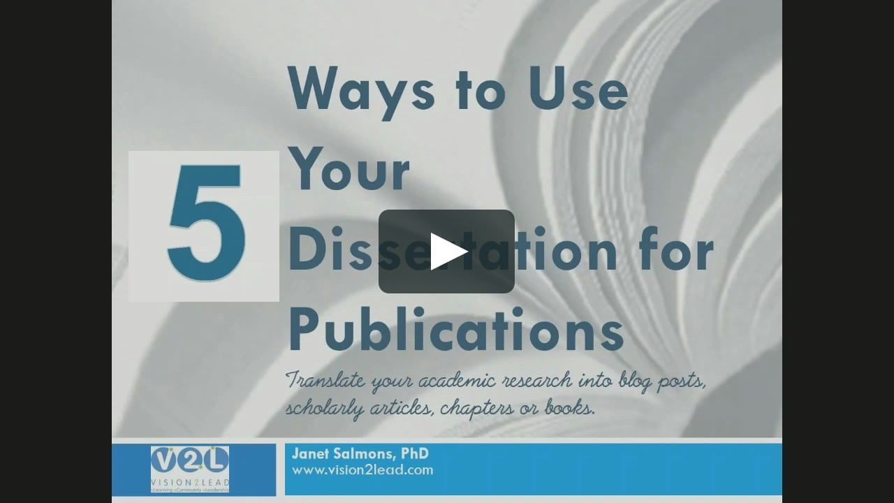 How To Publish Your Thesis | Guide To Masters & PhD Publication