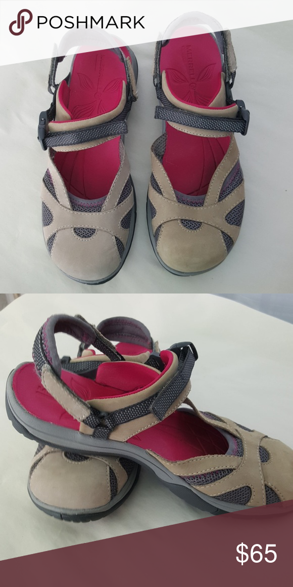 7a33db604e26 🔴2 for  50🔴 Merrell. Gently worn. Comfy. Velcro closure Merrell Shoes  Mules   Clogs