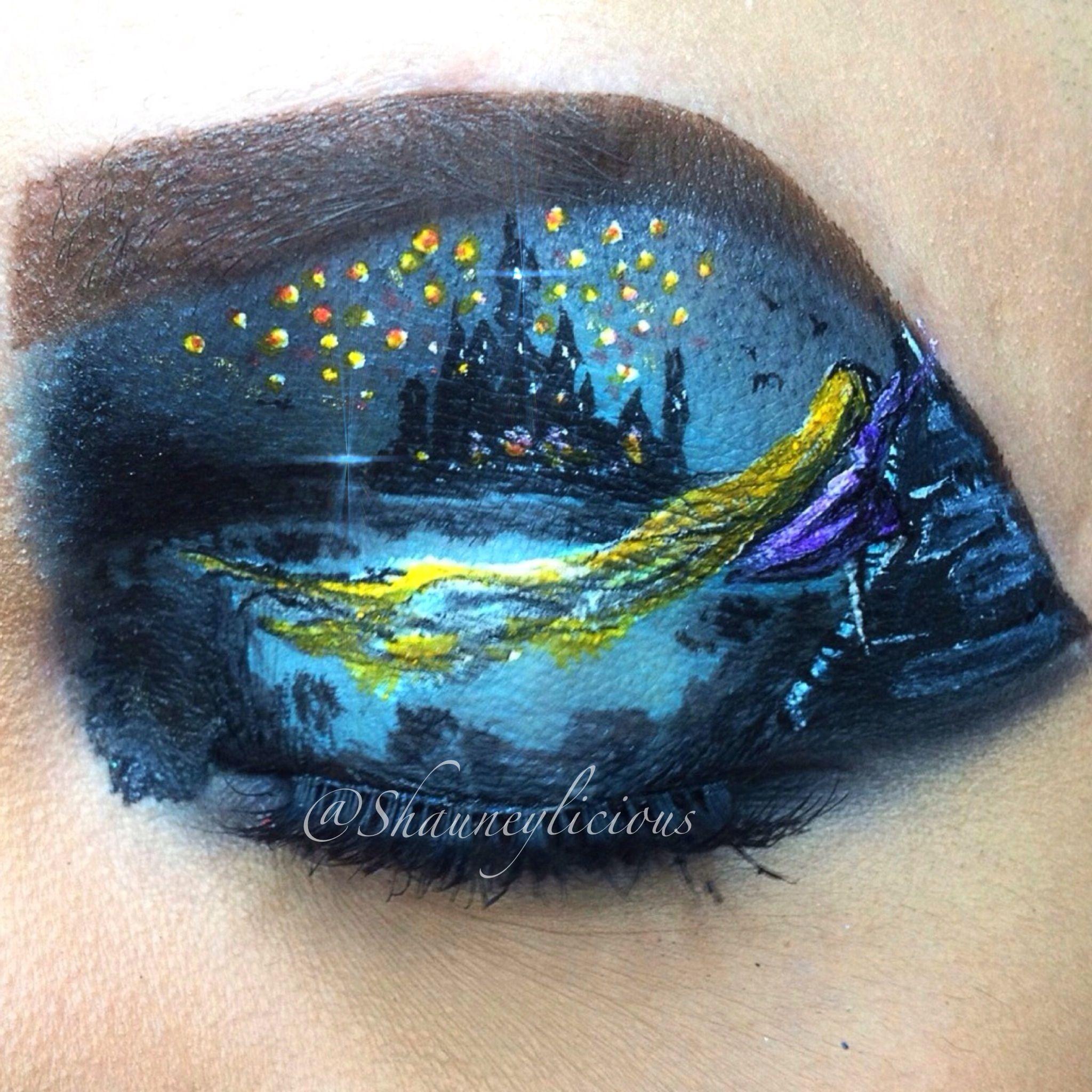 Fantasy makeup / makeup #fantasy #makeup #eyeart #art #eyeshadow #rapunzel #tangled #disney
