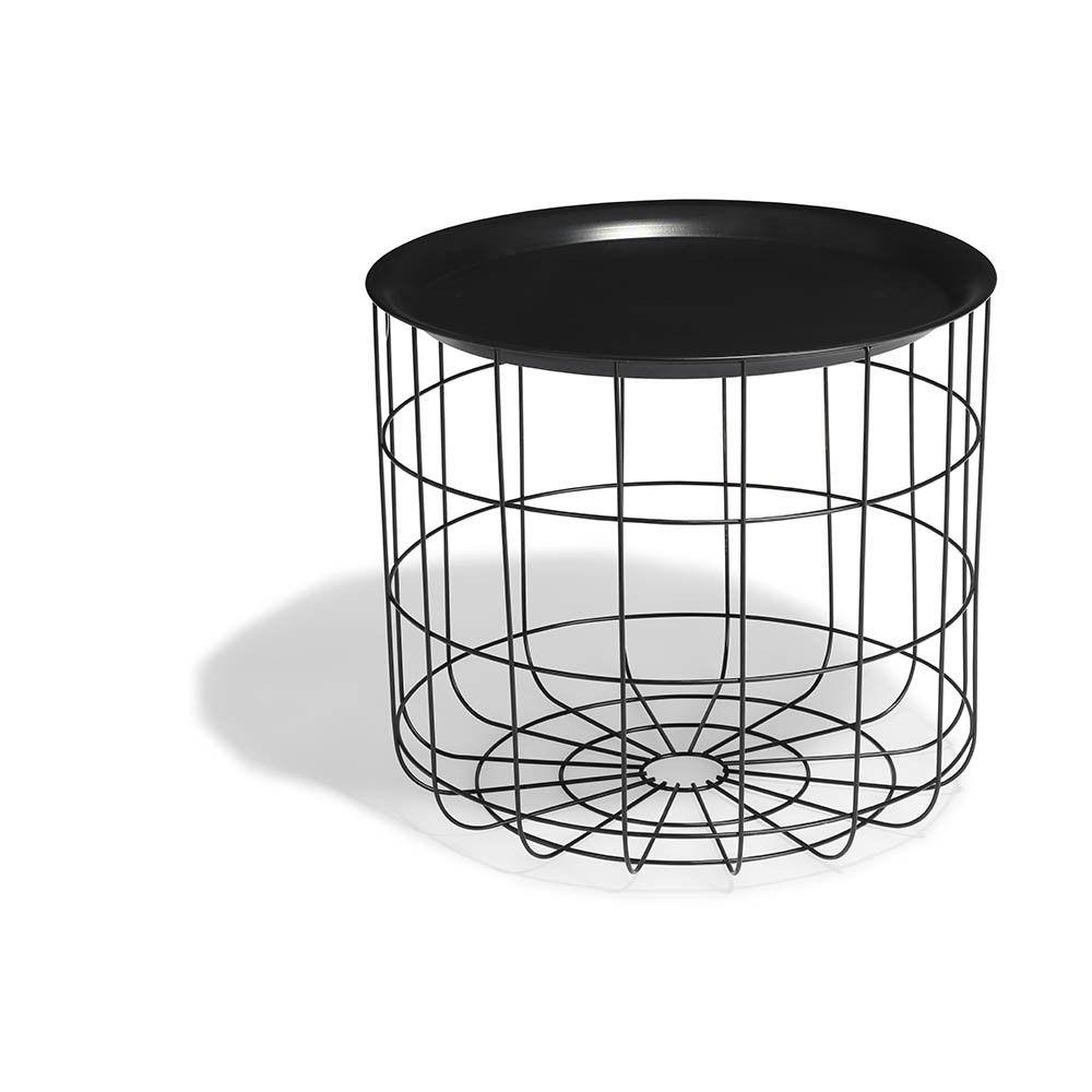 Table Basse Et D Appoint Pas Cher Gifi Bout De Canape Panier Metal Table Basse