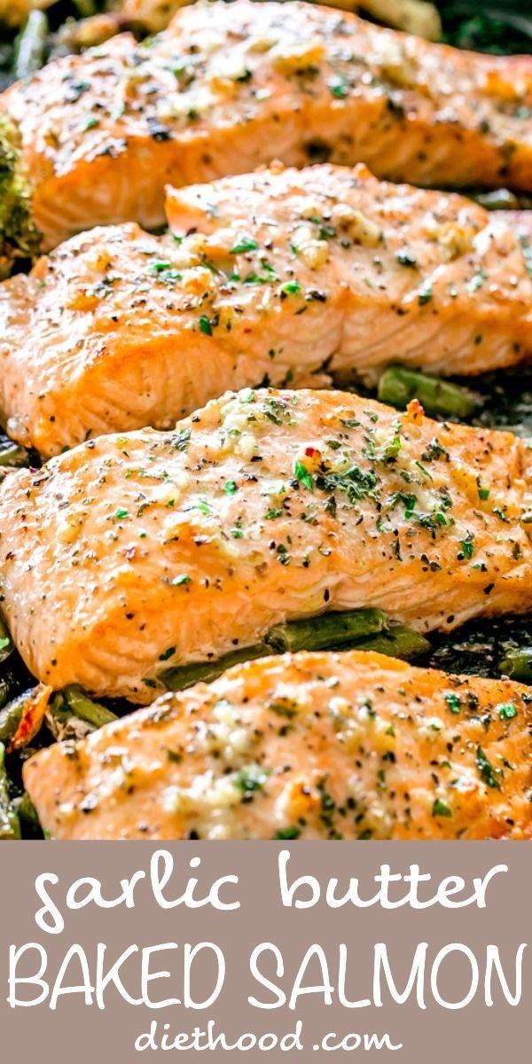 Garlic Butter Baked Salmon | An Easy & Delicious Salmon Recipe!