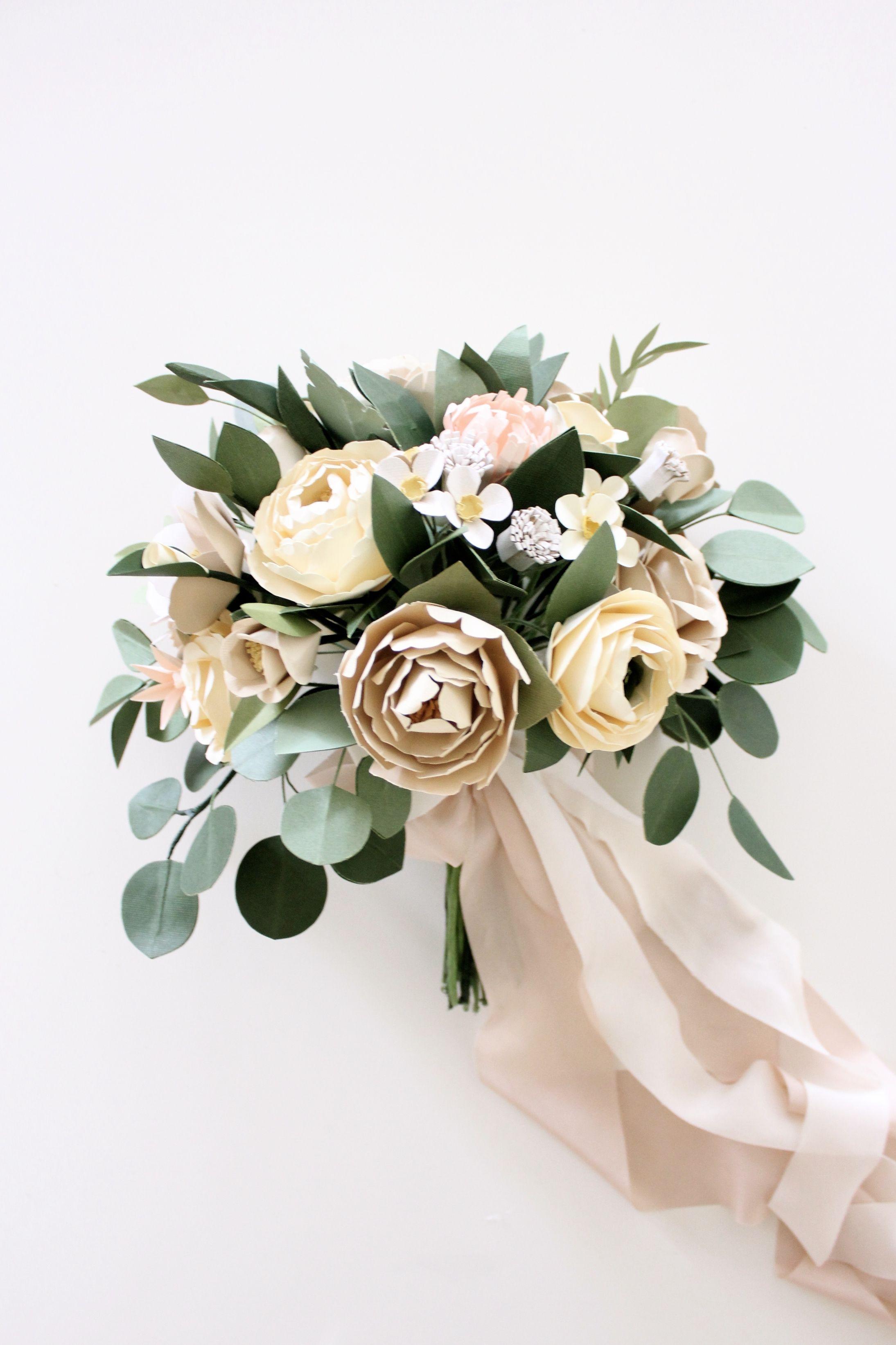 Customized bridal bouquet paper flowers pinterest paper paper flower bridal bouquet handmade by sara kim paper flowers wedding flower bouquet wedding izmirmasajfo