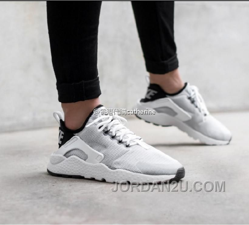 c09a967a8d9f8 Nike Air Huarache Run Ultra Trainers In White Black Nike Huarache