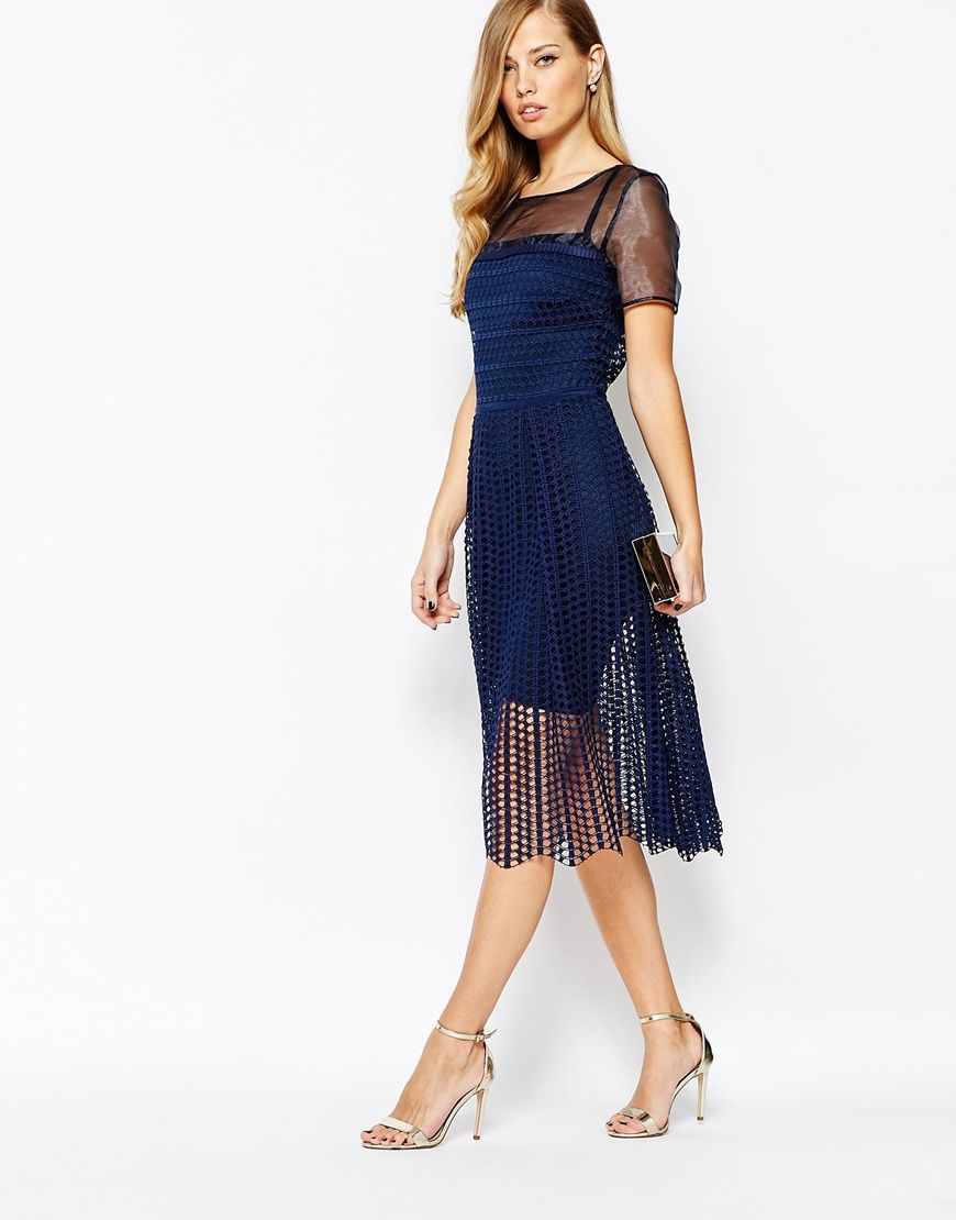 Image of body frock milly dress in navy what i wanted