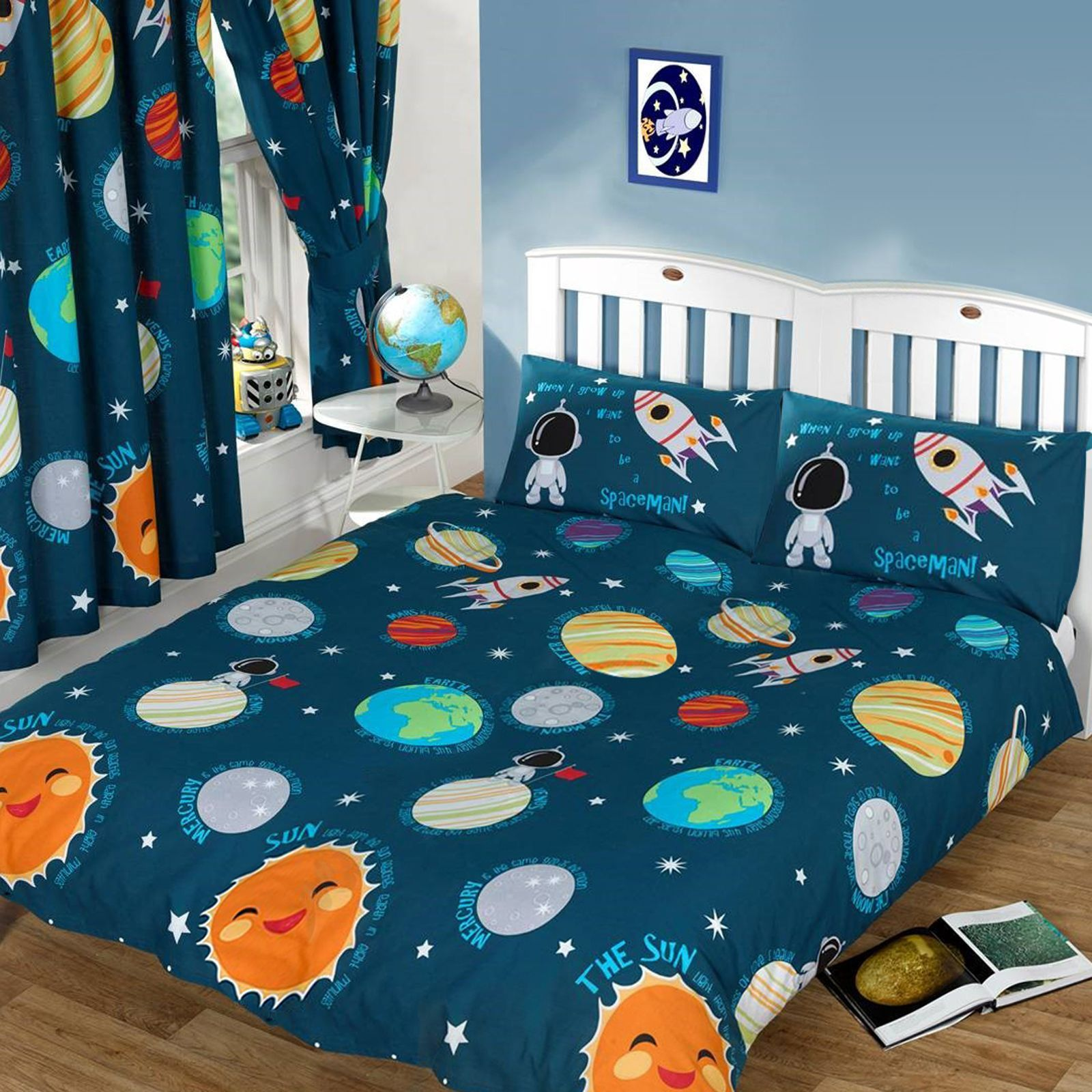 Little Spaceman Space Bedding Solar System Planets Crib
