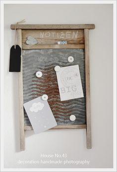 altes w schbrett als magnet pinnwand mit diy magneten aus kronkorken. Black Bedroom Furniture Sets. Home Design Ideas