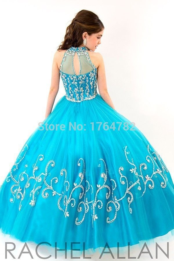 Girls/' Sleeveless Jewel Beading Ball Gown Girls Pageant Dress Christmas 2 3 4 5+