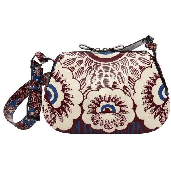 Valentino Printed Hobo Bag ($3,695) ❤ liked on Polyvore featuring bags, handbags, shoulder bags, purses, print, hobo handbags, pink leather handbag, leather hobo purse, leather hand bags and leather purse