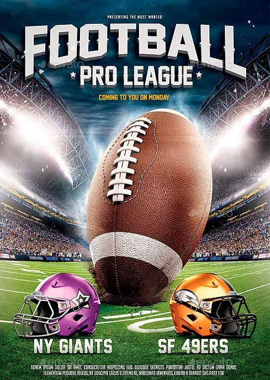 American Football Flyer - Buscar Con Google | Flyer | Pinterest