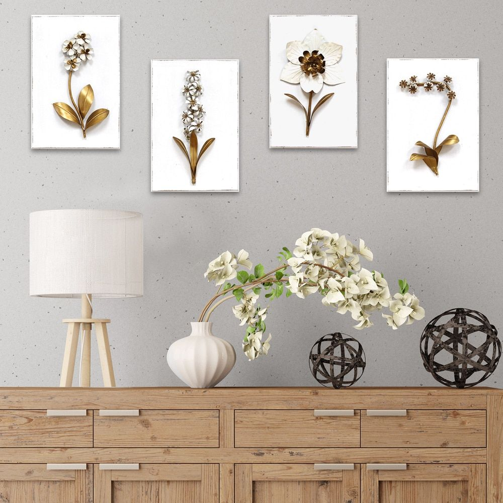 Stratton home decor elegant floral wall decor plant ledge ideas