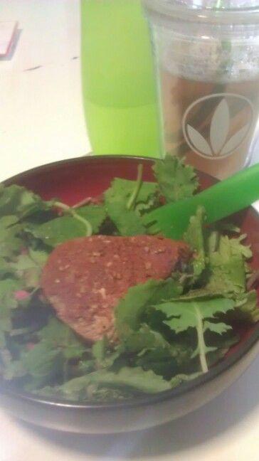Ahi tuna kale salad with berry vinaigrette