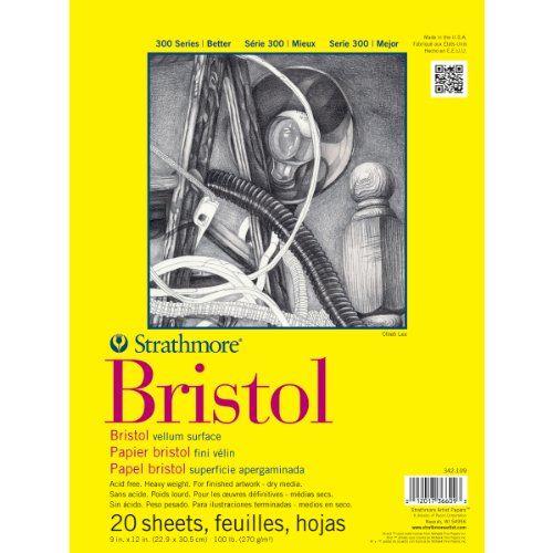 Strathmore Bristol Vellum Paper Pad, 9 by 12-Inch, 20 Sheets Strathmore http://www.amazon.com/dp/B0027A7K22/ref=cm_sw_r_pi_dp_hO2Evb0ZG67EA