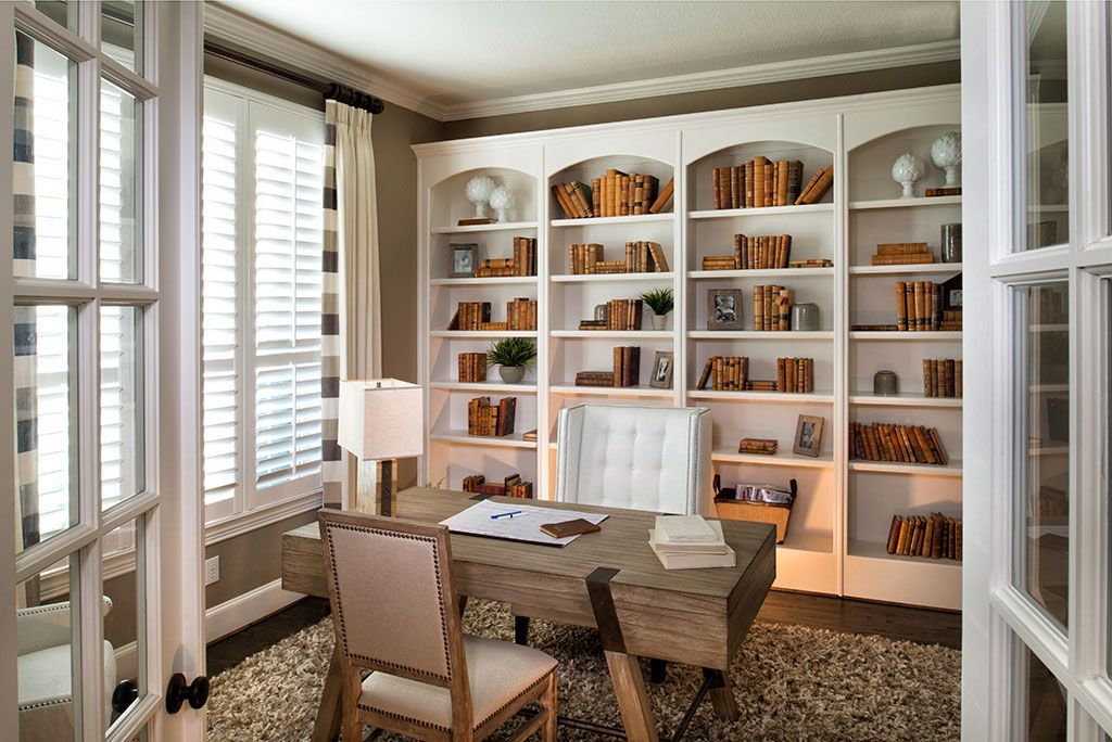 white airy home office. Soothing Cream And White Create A Natural, Almost Beachy Feeling In This Airy Home Office