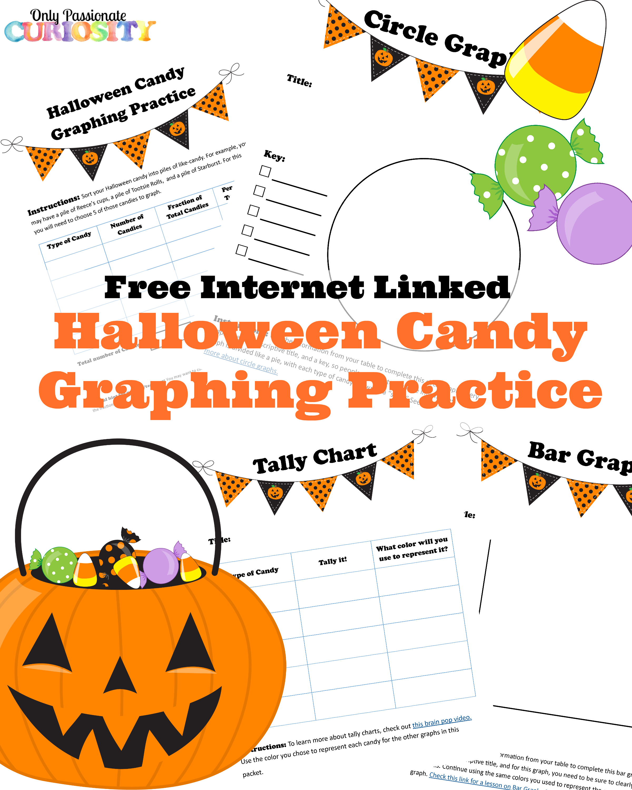 Halloween Free Printable Bar Graphs - 3d House Drawing •