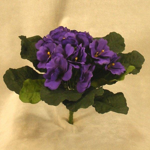 Artificial Silk African Violet Bouquet Hanken Imports