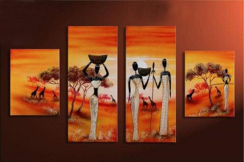 Framed piece african women wall art canvas set sale free shipping  your decor also pinterest rh
