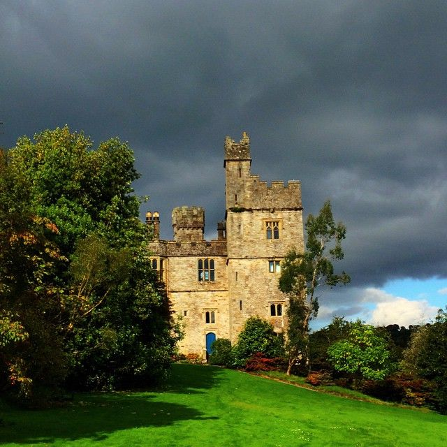 Photo by @noriecicerone Lismore Castle, as the rain clouds roll in. The castle gardens are open to the public. County Waterford, Ireland. #2014ATWS #ireland #irelandswaw