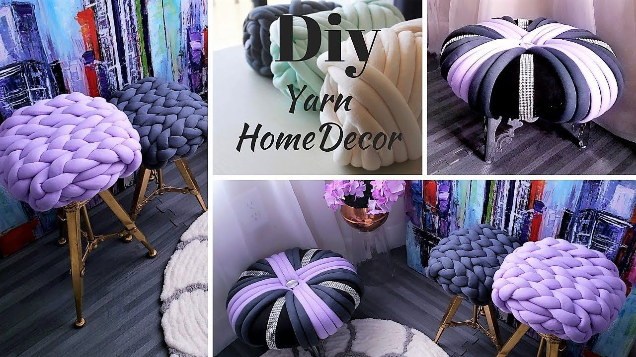 HOW TO MAKE UNIQUE HOME DECORS WITH YARN!!!| INEXPENSIVE ...