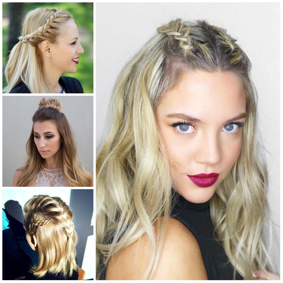 Braided Half Updo Hairstyles 2017 Hairstyles Pinterest Braided