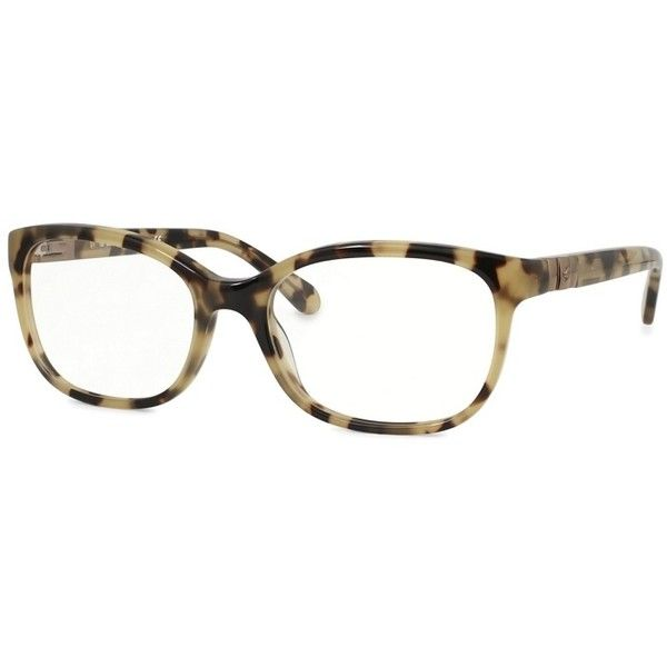 Kate Spade Josette Camel Tortoise Frame Eyeglasses ($93) ❤ liked on Polyvore featuring accessories, eyewear, eyeglasses, lens glasses, kate spade eye glasses, kate spade eyeglasses, kate spade eyewear and tortoise eye glasses