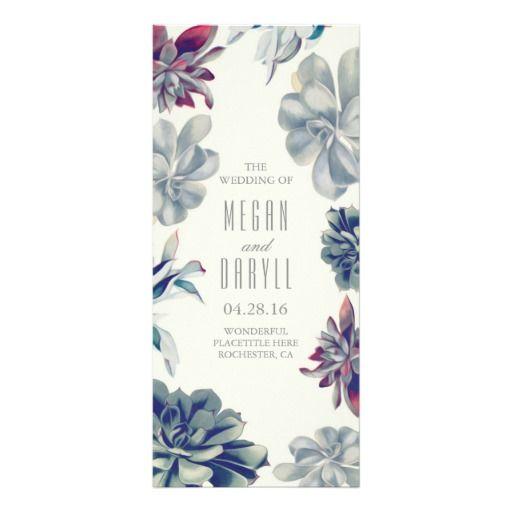 Succulent Floral Garden Wedding Programs  Wedding Programs