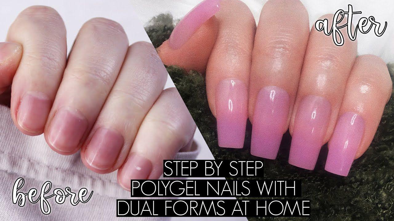 Diy Polygel Nails At Home The Beauty Vault Youtube Powder Nails Nails Polygel Nails
