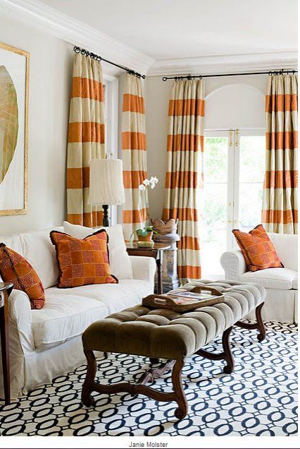 Living Room Curtains Designs Impressive Design District Elegant Orange Livingroom Curtain Designs  Living Design Decoration