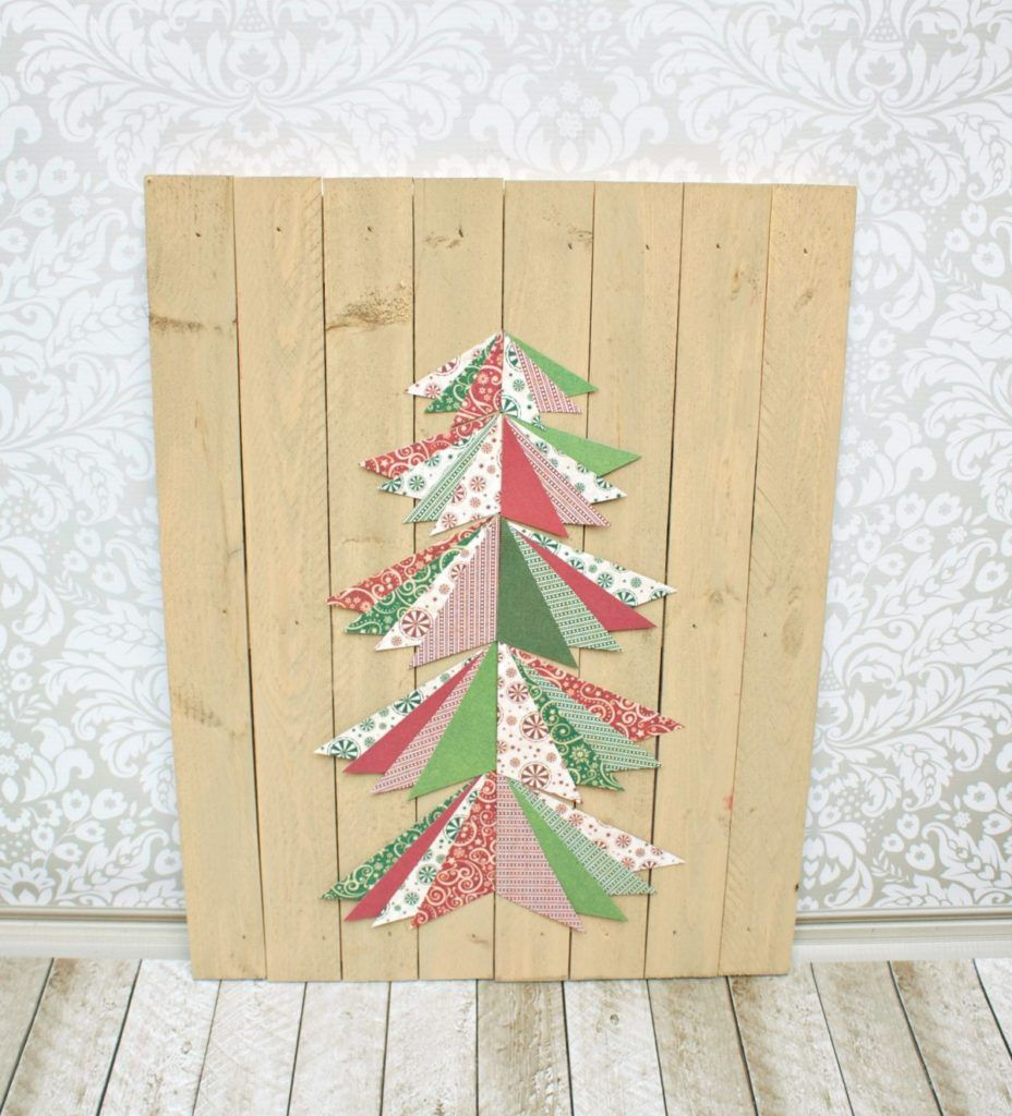 Paper Pieced Christmas Tree Wall Art Tutorial | Tree wall art ...