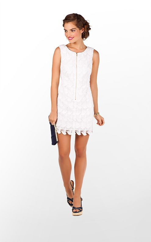 45cdc77cef939a Lilly Pulitzer - Kolby Dress in Resort White Boaty Lace [love the lace sail  boats!]