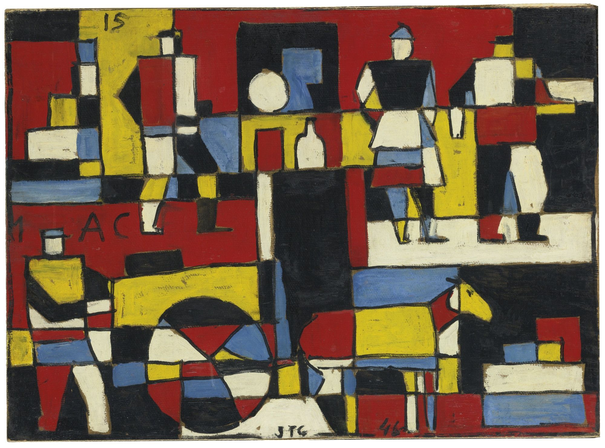 Torres Garcia Joaquin Cuatro F Abstract Sotheby S N09152lot7cn2ven Paintings Art Prints Painting Art Painting Oil