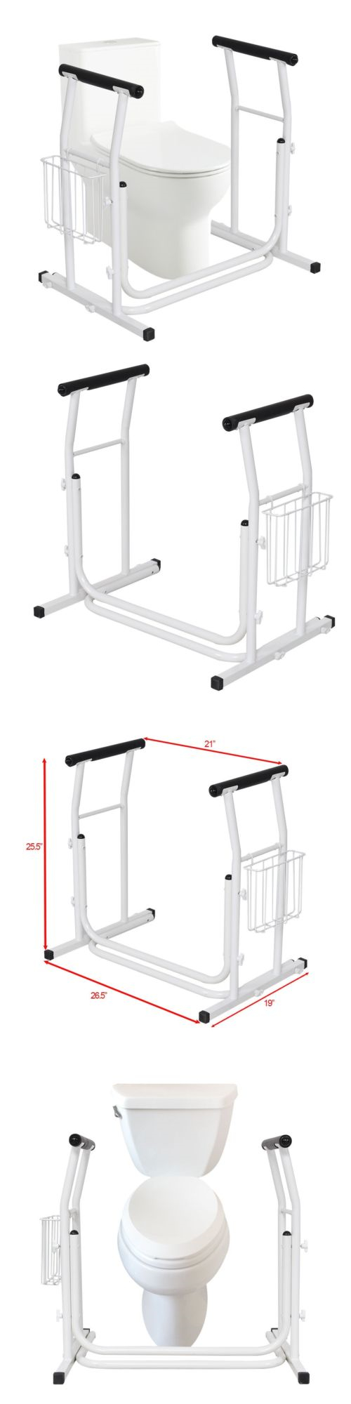 Handles and rails toilet free standing rail safety support grab bar