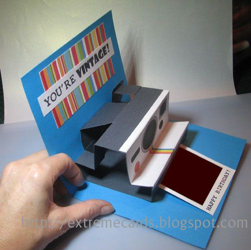 Polaroid camera pop up birthday card so clever cards and other extreme cards and papercrafting polaroid camera pop up card tutorial bookmarktalkfo Image collections