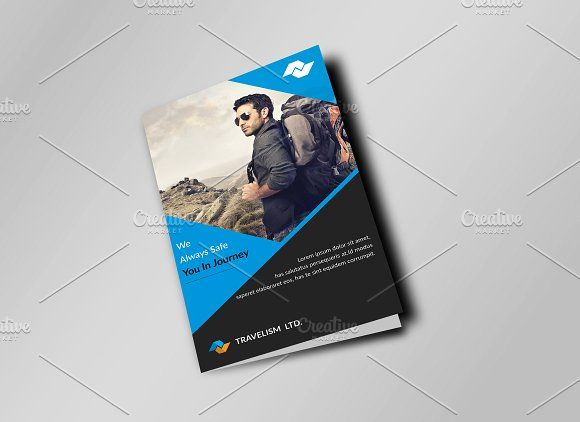 Corporate Travel Bi Fold Brochure By Imagine Design Studio On  @creativemarket