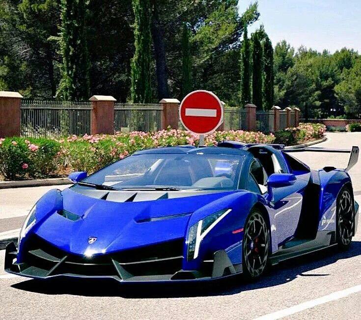 Blue Lambo veneno   Blue & White Rides   Pinterest   Car stuff and Cars