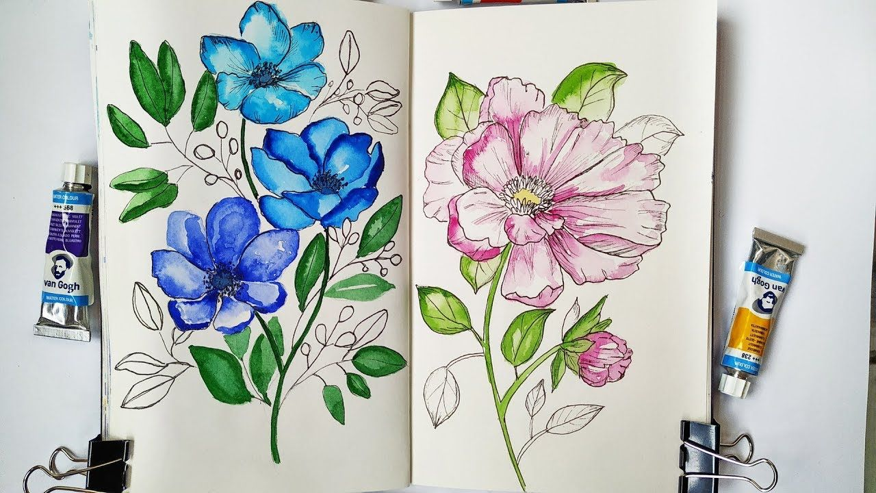 Watercolor Botanical Painting How To Paint Easy Flowers